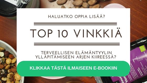 Top 10 vinkkiä terveelliseen elämään
