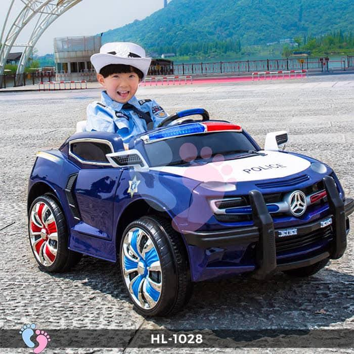 Xe ô tô điện cảnh sát HL-1028 2