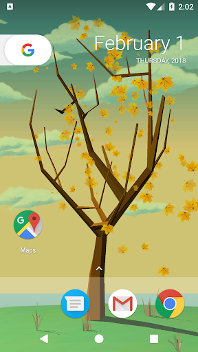 Tree With Falling Leaves Live Wallpaper - FREE ss2
