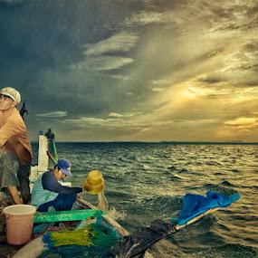Fishermen by Al Hilal - Professional People Agricultural Workers ( sailor man, fishermen, two men )