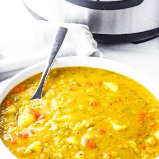 Instant Pot Vegan Split Pea Soup.