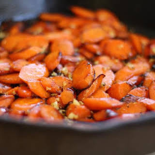 Cast Iron Carrots with Garlic and Honey.