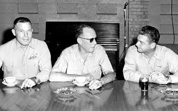 Photo: LT Col William Crowe, General Randolph McC Pate and Capt.  Duffy