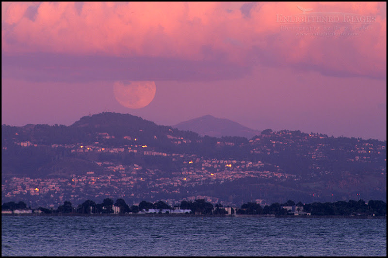 Photo: Full moon rising at sunset over the Oakland Hills and Mount Diablo, from the edge of the San Francisco Bay, San Francisco, California  This is a straight scan of an image I've never scanned before, and I don't think I've ever showed it before, even though it's almost a decade old. This was shot on a #Nikon n90s camera using Fuji Velvia film.  #plusphotoextract by +Jarek Klimek