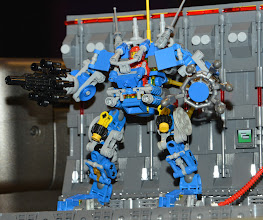 Photo: Another Version of the EXOSUIT - By Lego Designer Mark Stafford - he loves the traditional blue brick :)