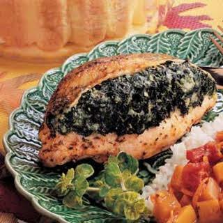 Spinach-Stuffed Chicken.
