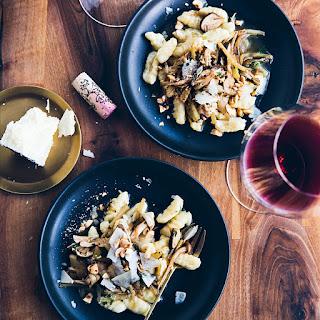 Potato Gnocchi with Wild Mushroom Ragù and Hazelnuts Recipe