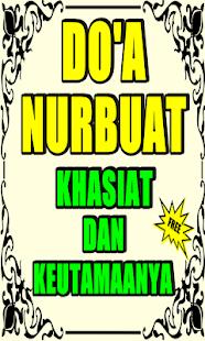 Doa Nurbuat Khasiat Dan Keutamaanya for PC-Windows 7,8,10 and Mac apk screenshot 1