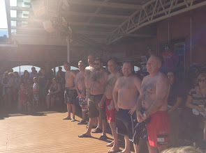 Photo: The hairy chest lineup