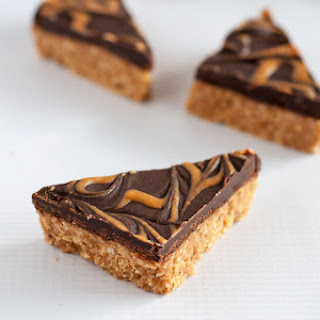 Grain-Free Peanut Butter Swirl Chocolate Bars