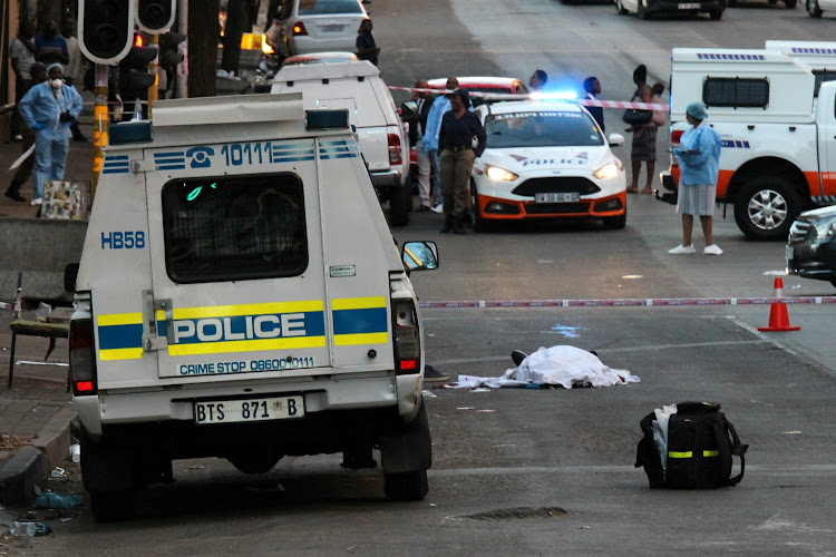 An off-duty officer from the Johannesburg Metro Police Department was shot and killed on Thursday afternoon about 3pm in Bruce Street, Hillbrow, Johannesburg on Thursday, September 11 2018.