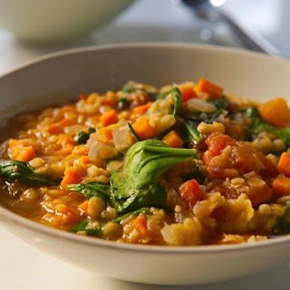 Red Lentil and Vegetable Soup.