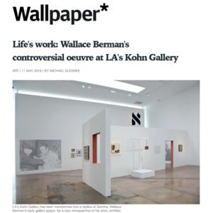 Wallpaper, Wallace Berman press