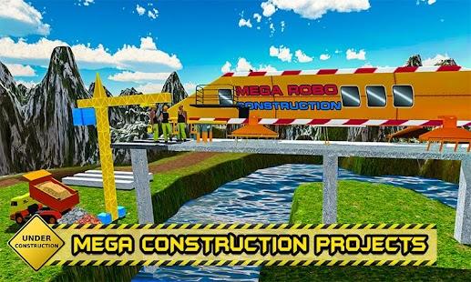 řeka silnice mostní konstrukce - moderní stroj - náhled