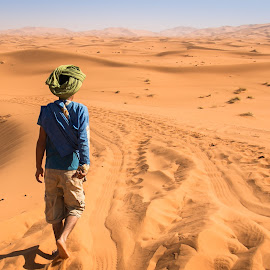 Walking in the desert by Natalia Photography - People Street & Candids ( africa, explore, merzouga, sun, people, canon, adventure, sand, path, sahara, dunes, golden hour, candid, walking, morocco, sahara desert, desert, travel, maroc, sunray )