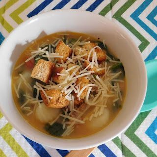 Gnocchi, Sausage & Spinach Soup