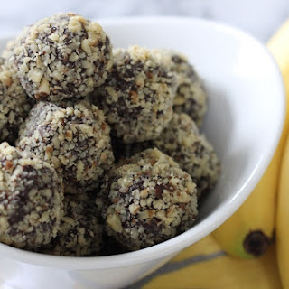 Chocolate Banana Walnut Date Truffles