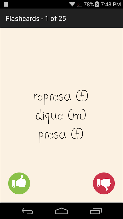 English Spanish Dictionary Una- screenshot