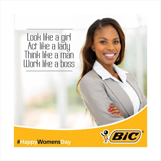 BIC SA posted this image on their facebook page on Sunday, igniting a storm of criticism. The company has since apologised for the post.