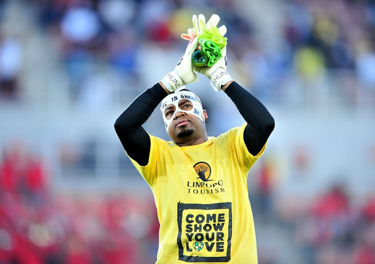 Itumeleng Khune of South Africa during the 2018 World Cup Qualifiers football match between South Africa and Senegal at Peter Mokaba Stadium, Polokwane on 10 November 2017.