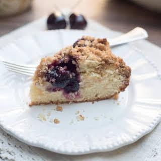 Fresh Cherry Crumb Cake.