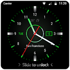 Black clock lock screen for android phone icon