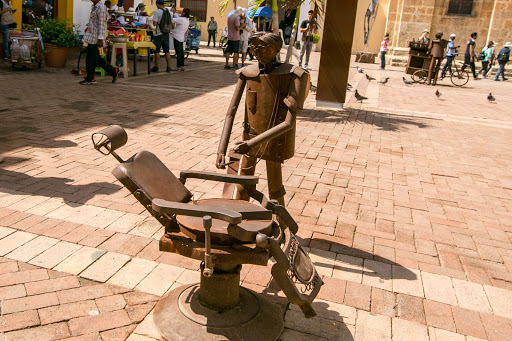 Dental-art.jpg - Whimsical public art in the Plaza de San Pedro Claver.