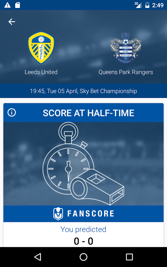 QPR FanScore- screenshot