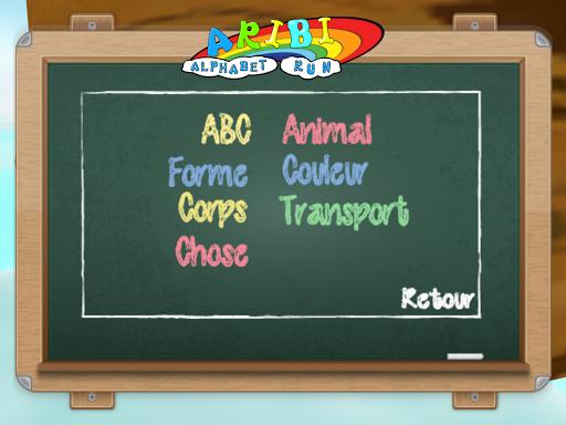 La course à L'alphabet