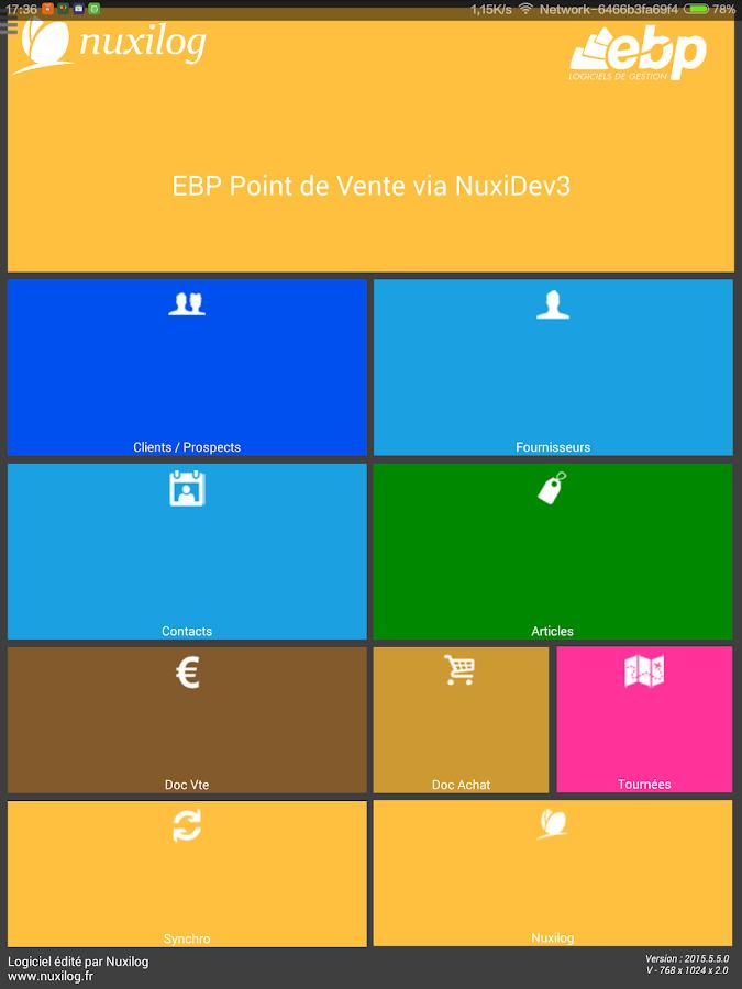 EBP Point de Vente via NuxiDev - screenshot