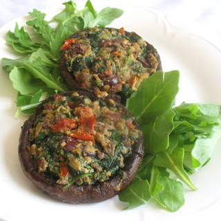 Portobellos Stuffed with Spinach and Sun-Dried Tomatoes Recipe