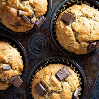 Chocolate Chunk Banana Muffins