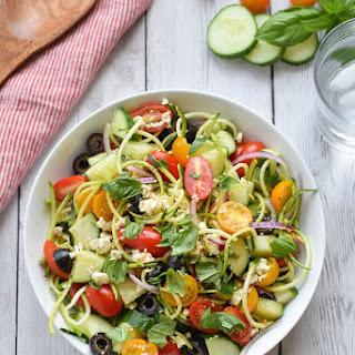Greek Zucchini Noodle Salad Recipe
