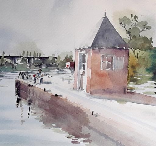 stage aquarelle en plein air_Jeanne PAPA_ Fontainebleau Moret sur Loing