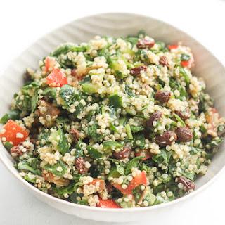 Quinoa Spinach Power Salad with Lemon Vinaigrette.