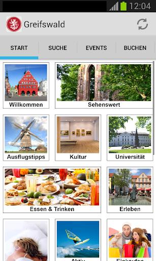 Greifswald-App screenshots 1