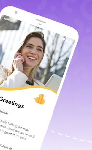 HiHello Digital Business Cards and Card Reader App Screenshot