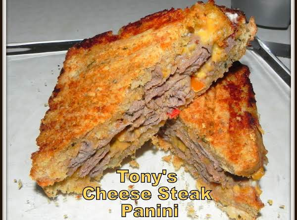 Tony's Cheese Steak Panini Recipe