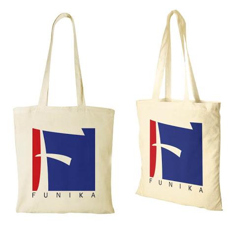 Printed Cotton Shopping Bags (Long Handles)