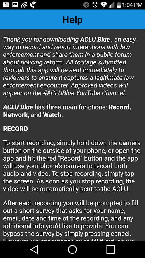 ACLU Blue- screenshot
