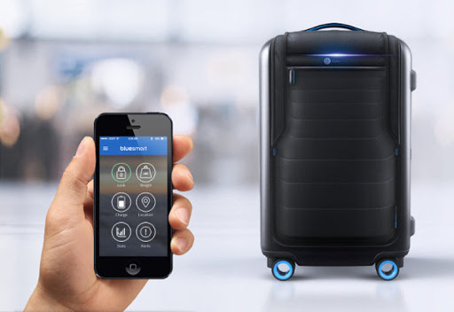 The Bluesmart One: A smart carry-on with GPS, remote locking and battery charger.