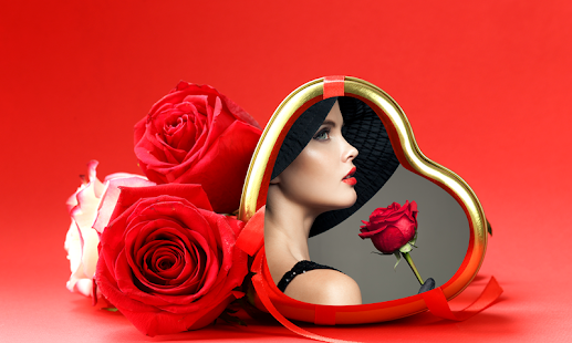 romantické rámy editor - náhled