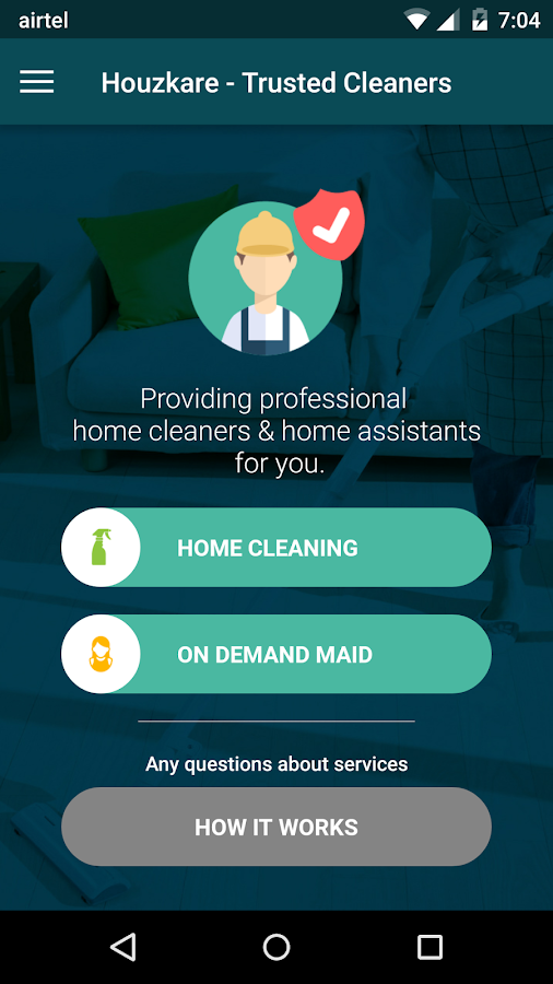 Houzkare - On demand home care- screenshot