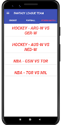 Fantasy League Team - Cricket,Football,NBA,Hockey APK screenshot thumbnail 3