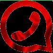 واتس آب بلس احمر icon
