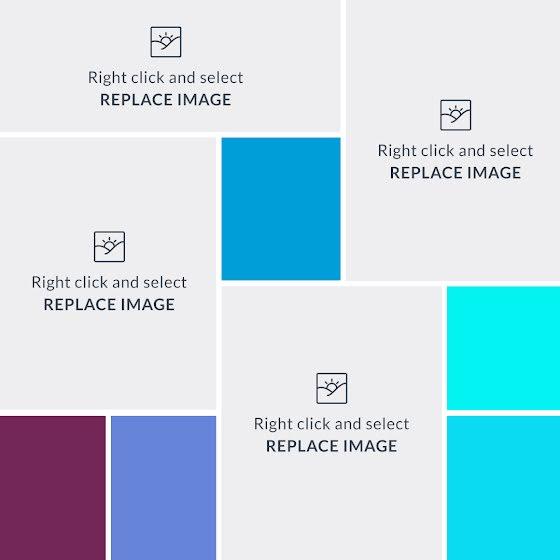 Cool Colors Mood Board - Mood Board Template