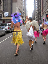 Photo: Finally walking to the gay pride march, East 17 Street between Broadway and Fifth Avenue, Chelsea, 26 June 2011. (Photograph by Elyaqim Mosheh Adam.)