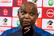 Pitso Mosimane, Coach of Mamelodi Sundowns FC during the Absa Premiership 2019/20 football match between Amazulu and Mamelodi Sundowns at Moses Mabhida Stadium on 04January 2020.