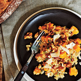 Roasted Butternut Squash Risotto with Sugared Walnuts