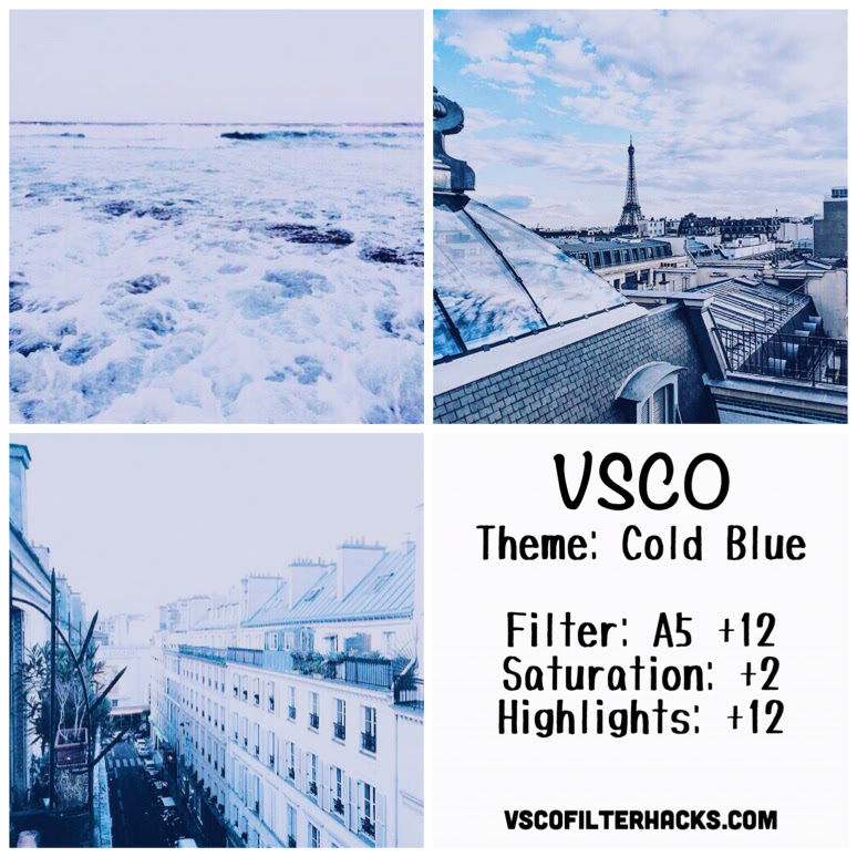 Cold Blue Instagram Feed Using VSCO Filter A5